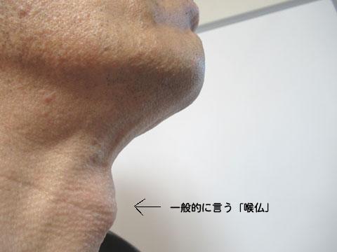 喉仏の位置