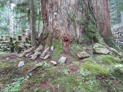 自然石の墓