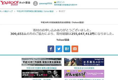 Yahooネット募金