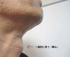 喉仏の場所